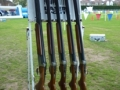 Laser Clay Pigeon Guns in Stand
